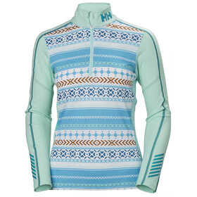 Helly Hansen Lifa Active Graphic 1/2 Zip Shirt Dame Blue Tint